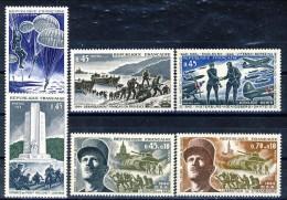 Francia 1969 Serie N. 1603-1608 25° Della Liberazione MNH GO Catalogo € 10,50 - Ungebraucht