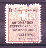 877 - Fiskalmarke Der Eidgenossenschaft - Fiscaux