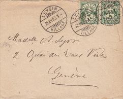 Lettre CaD Leysin Pour Geneve 1903 - 1882-1906 Armarios, Helvetia De Pie & UPU