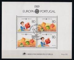 Portugal 1989 : Bloc Feuillet N° 65 Oblitération 1er Jour : Europa : Jeux D'enfants - Blocks & Kleinbögen