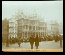 Foto  Photo 1898   Bruxelles  Grand' Place  ( 14 X 11,50 Cm ) - Alte (vor 1900)