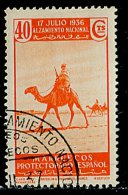 (cl.11 - P.33) Maroc Espagnol Ob  N° 245  (ref. Michel Au Dos) -Soulèvement Du 17 Juillet 1936. Méharistes Du Cap Juby - - Andere