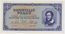 Hungary 1 Millio Pengo 1945 Pick 122 AUNC - Hongrie