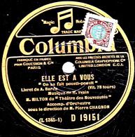 """78 Trs - 25 Cm - état TB -   MILTON - ELLE EST A VOUS  """"On Se Fait Pouet-pouet"""" - """"Jules"""" - 78 T - Disques Pour Gramophone"""