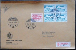 Greenland  1973 Registered Letter To Denmark  Sdr.Strømfjord  15-2-1973    ( Lot 2339 ) - Brieven En Documenten