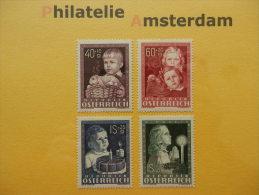 Austria 1949, POSTFRISCH: KINDERFÜRSORGE / HAPPY CHILDHOOD: Mi 929-32, ** - 1945-.... 2de Republiek