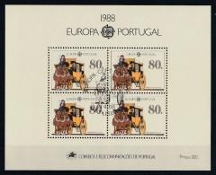 Portugal 1988 : Bloc Feuillet N° 58 Oblitération 1er Jour : Europa : Transport Et Communication - Blocks & Kleinbögen