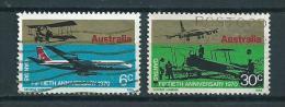1970 Australia Complete Set 50 Years Qantas Used/gebruikt/oblitere - 1966-79 Elizabeth II