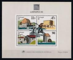 Portugal 1986 : Bloc Feuillet N° 54 Oblitération 1er Jour : Lubrapex 86 - Blocs-feuillets