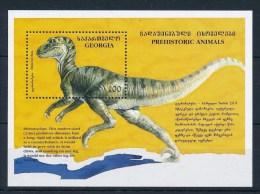 Georgia 1995 Prehistoric Wild Animals Dinosaur Dinosaurs Nature Animal Stamp MNH Michel BL3 FSC 29506A - Georgia