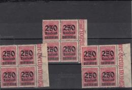Nr 295 II Mit Strichleisten 22  Statt 21 Striche / Inflation 1923 / Drei Mal Die Selbe Abart ! - Infla