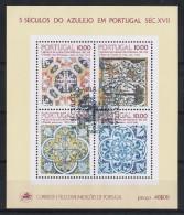 Portugal 1982 : Bloc Feuillet N° 39 Oblitération 1er Jour : 5 Siècles De L'Azulejo - Blocs-feuillets