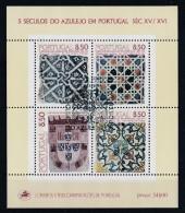 Portugal 1981 : Bloc Feuillet N° 34 Oblitération 1er Jour : 5 Siècles De L´Azulejo - Blocs-feuillets