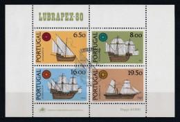Portugal 1980 : Bloc Feuillet N° 32 Oblitération 1er Jour : Lubrapex 80 - Blocs-feuillets