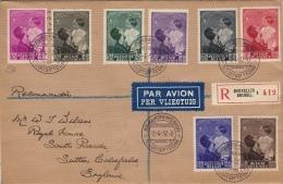 """Superbe Lettre FDC Recommandée Reine Astrid  à """"Royal House"""", 15.4.37 Avec Cachet D´arrivée - Belgium"""