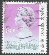 Hong Kong. 1987 QEII. 80c Used. 1991 Date Imprint. SG 605 - Hong Kong (...-1997)