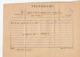 TELEGRAMME SENT LOCAL IN CLUJ NAPOCA, ROMANIA - Télégraphes
