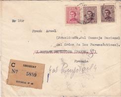 Lettre CaD Montevideo Pour La France 1952 - Uruguay