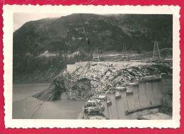 Photographie Construction Du Barrage De Tignes 1952 - Lieux