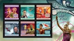 Guinea 2012, Sport, Athletic, Gymnastic, 6val In BF - Gymnastik