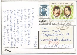 CUBA TP SELLO AJEDREZ CHESS LASKER CAPABLANCA - Echecs