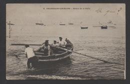 DF / 14 CALVADOS / GRANDCAMP-LES-BAINS / RETOUR DE LA PÊCHE / ANIMÉE / CIRCULÉE EN 1903 - Autres Communes