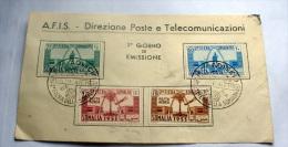 ITALIA - SOMALIA AFIS 1953 - FIERA SOMALIA FDC - Somalie (AFIS)