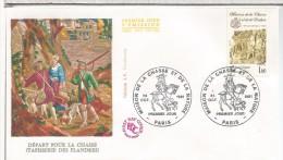 FRANCIA FDC 1981 MAISON DE LA CHASSE CAZA DEPORTE - Animalez De Caza