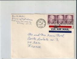 Enveloppe - Cachet  Au  Depart  De  BLOOMINGTON   (  Etats Unis  )  à  Destination  De  GAN   ( 64 )  Via  A.M - Amérique Centrale