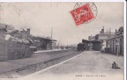 Carte 1908 DINAN / INTERIEUR DE LA GARE (train) - Dinan