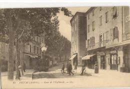 07/ Privas - Cour De L'Esplanade - LL N° 15 - Tramway Beau Plan , Devanture Coiffeur, Carte écrite En 1916 - Privas