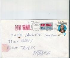 Enveloppe -   Cachet  Au  Depart  De    SHREVEPORT   -   (  Etats Unis  ) à  Destination   De  Tarbes  ( 65 )  Air Mail - Amérique Centrale