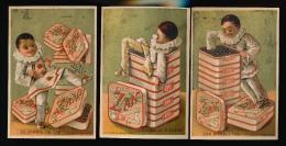 6 CHROMO'S DORE :: DEMANDEZ PARTOUT LE ZAN LE MEILLEUR REGLISSE - Trade Cards