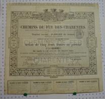Chemin De Fer Des Charentes, 1863 - Chemin De Fer & Tramway