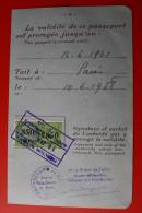 PASSEPORT FAIT A PARIS 1955+VISAS FRONTIERE SUISSE GENEVE-CORNAVIN-IMMIGRATION OFFICE-TIMBRE FISCAL 350fr - Historical Documents