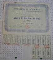 Chalutiers De La Rochelle, Stts à Cognac, Action De 10000 Frs - Navigation