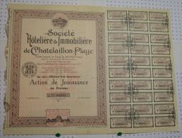Sté Hoteliere Et Immobiliere De Chatelaillon Plage, Stts A La Rochelle - Tourisme