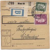 Deutsches Reich Paketkarte Wien 65 21/1/1944 Nach Strafgefängenis Göllersdorf  PR2814 - Deutschland