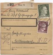 Deutsches Reich Paketkarte Wien 96 1943 Nach Strafgefängenis Göllersdorf  PR2815 - Deutschland
