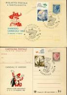 6200 Italia, 2 Stationery Surchaged 1984/1985 Carnival Of Viareggio, - Carnival