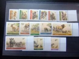TANZANIA 1980 FAUNA Animales Salvajes Yvert N º 163 / 176 ** MNH - Animalez De Caza