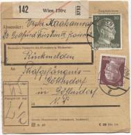Deutsches Reich Paketkarte Wien 136 C 2/8/1943  Nach Strafgefängenis Göllersdorf  PR2816 - Deutschland