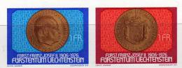 Münzen Des Fürstentum 1976 Liechtenstein 649/0 Plus Block 10 ** 5€ Geburtstag Des Fürsten Hb M/s Bloc Sheet Bf FL Europa - Blocs & Feuillets