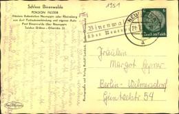 BRANDENBURG : Binenwald über Neuruppin, 1937, Posthilfsstellen Stempel - Deutschland
