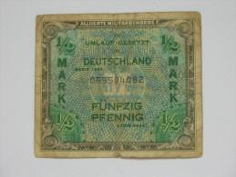 1/2 Mark Fünfzig Pfennig - Allied Occupation WWII - ALLEMAGNE - Série 1944  **** EN ACHAT IMMEDIAT **** - 1/2 Mark