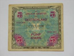 5 Fünf Mark - Allied Occupation WWII - ALLEMAGNE - Série 1944  **** EN ACHAT IMMEDIAT **** - 5 Mark