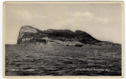 GIBILTERRA - GIBRALTAR - ROCK FROM THE BAY - Vedi Retro - Formato Piccolo - Gibilterra