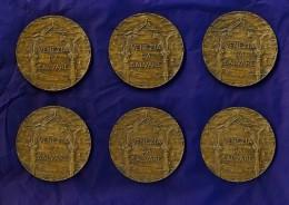 6 MEDAGLIE JOHNSON MILANO - VENEZIA DA SALVARE - 1000 ESEMPLARI - CA' D'ORO, ZANIPOLO,S. MARCO,S.MARIA,, RIALTO, CA' FOS - Italie