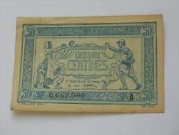 50 Centimes - Trésorerie Aux Armées 1917 - A  **** EN ACHAT IMMEDIAT **** Billet Recherché !!!! - Treasury