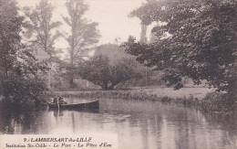CPA  De  LAMBERSART (59) -  Institution Sainte-Odile  -  Le Parc -  Barque Sur La Pièce D' Eau   //  TBE - Lambersart